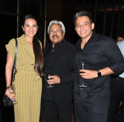 Tara Sharma, Sunil Alagh and Roopak Saluja