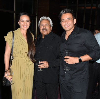 Tara Sharma, Sunil Alagh and Roopak Saluja