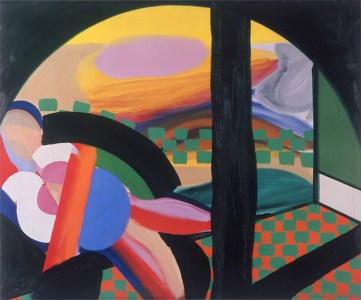 Mrs Acton in Delhi, 1967 - 1971 Oil on canvas 48 x 58 1/4 inches  122 x 148 cm. Image Credits: Howard Hodgkin and Gagosian