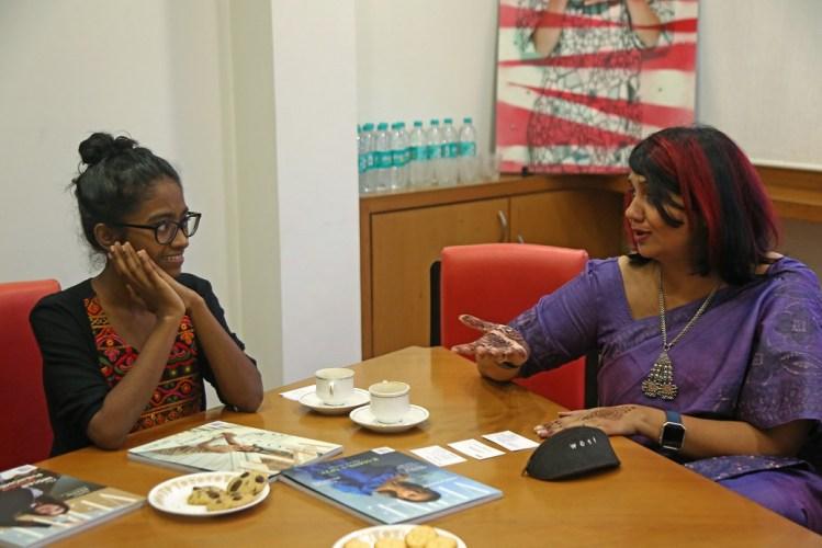 Shweta Katti with Verve's CEO Pallavi Kanchan