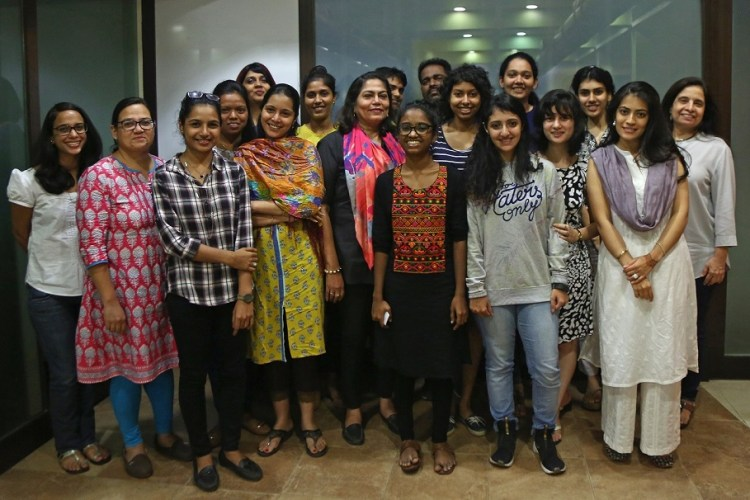 Shweta Katti with Team Verve