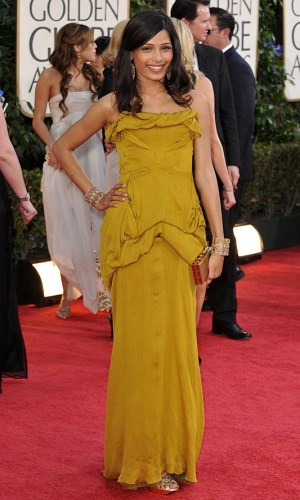 In Christian Lacroix at the Golden Globes, 2009