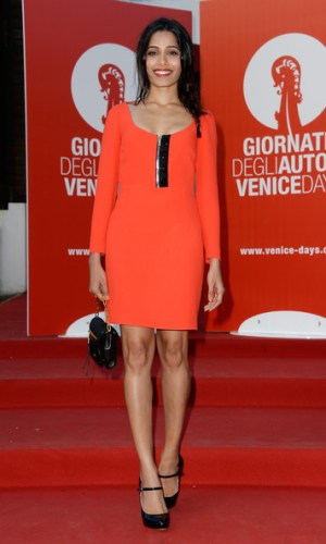 In Miu Miu at the Venice Film Festival, 2013