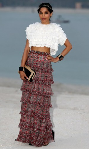 At the Chanel Cruise Collection show, 2014