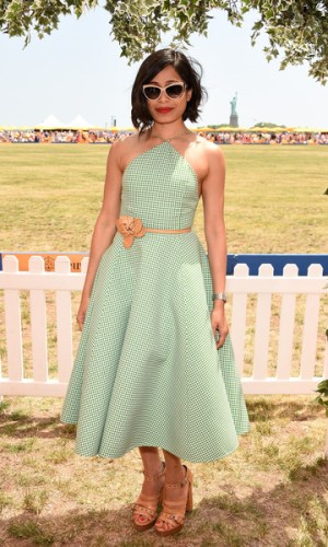 In Michael Kors at a polo match, 2015