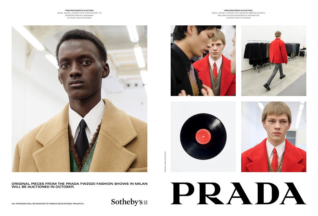 Auction, Featured, Online Exclusive, Prada, Prada's Fall/Winter 2020 show, Re-Nylon, Sotheby's, UNESCO's educational projects, UNESCO's Intergovernmental Oceanographic Commission