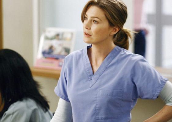 Ellen Pompeo as Meredith Grey in Grey's Anatomy