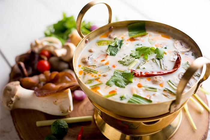 Tom Ka Hed - Mushrooms in Coconut Soup