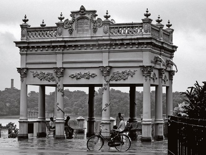 The Indo-French architecture, of Jora Ghat, Chandernagore