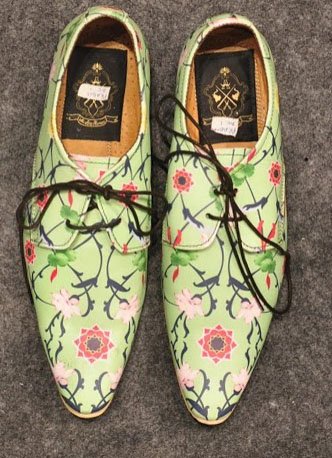 Printed floral brogues by Ajay Kumar