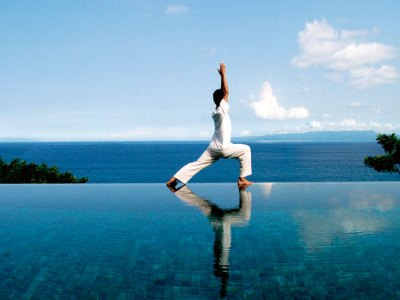Yoga on the water's edge