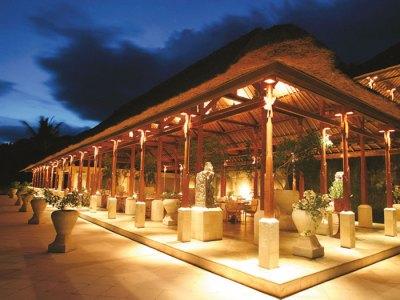 Amankila lit by night