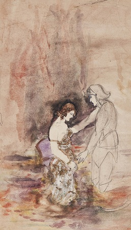 Untitled, watercolour on paper, 12 x 6.5 inches, 1924