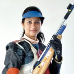 Anjali Bhagwat, Rifle Shooter, first and only Indian woman to win the ISSF Champion of Champions Trophy in the Air Rifle Men and Women mixed event at Munich in 2002