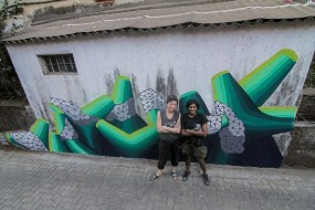 Artists Anpu and Nora