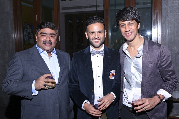 Anurag Katriar, Prateek Jain and Gautam Seth at Klove and Indigo's party in New Delhi