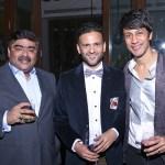 Anurag Katriar, Prateek Jain and Gautam Seth at Klove and Indigo's party in New Delhi