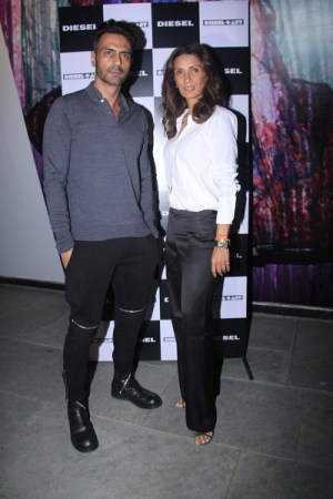 Arjun and Mehr Rampal