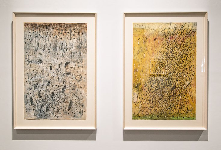 "Untitled, pastel and poster paint on paper, 27.75"" x 19.75"" (each of 2), 1980"
