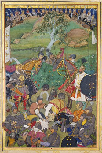 Paintings from the Padshahnama manuscript ('Book of Emperors'), 1656–7