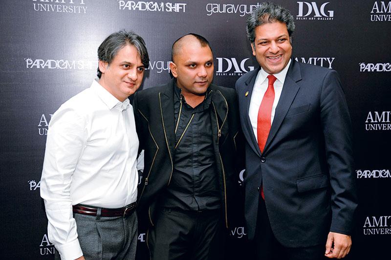 Ashish Anand, Gaurav Gupta, Aseem Chauhan, The launch of Gaurav Gupta's first store in Mumbai