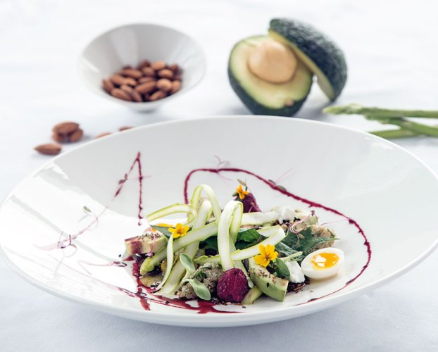 Asparagus, Quail Egg and Goat's Cheese Salad
