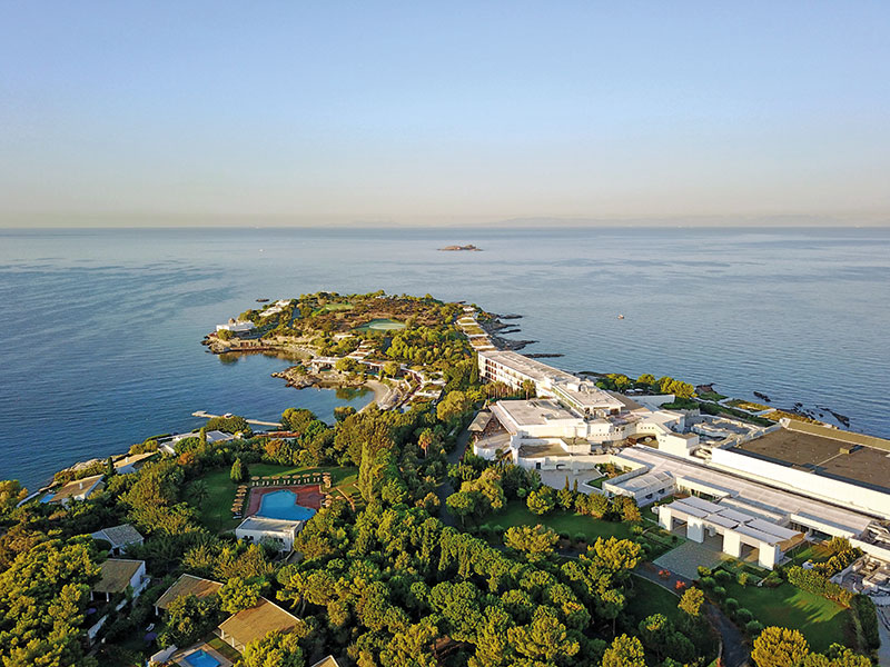 An Aerial View Of The Athens Riviera