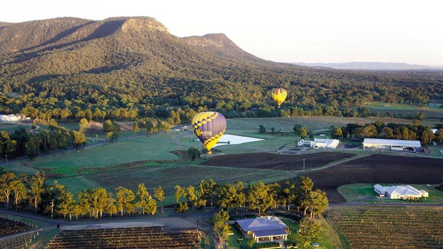 Ballooning over the hunter valley landscape
