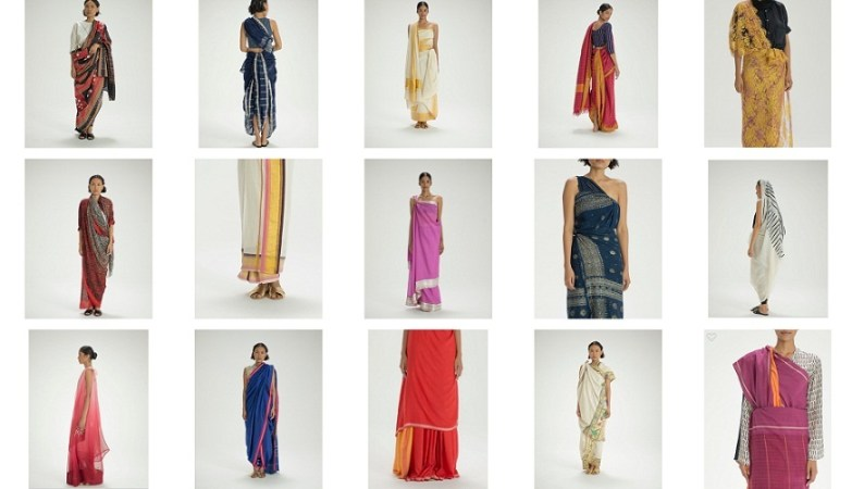 Border & Fall - Various Sari drapes