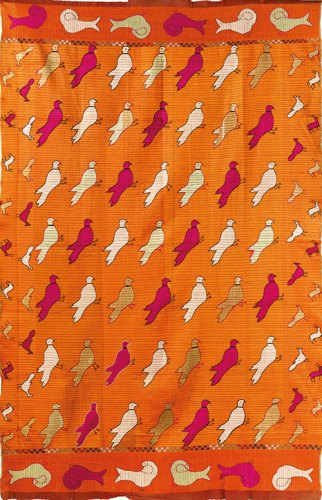 This phulkari textile (Bagh Kabutri, West Punjab, circa 1930s) was sold at Saffronart's first auction dedicated to Central Asian and Indian textiles, 'Woven Treasures: Textiles from the Jasleen Dhamija Collection', in October 2016