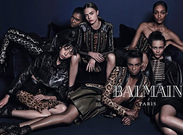 Balmain Fashion AW 2014 campaigns
