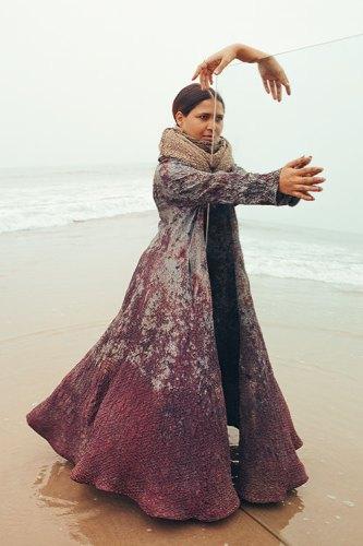 Bandhani dress, scarf, both from 11.11/ElevenEleven