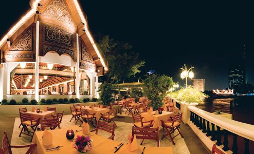 Seating under the stars: Rim Naam Terrace