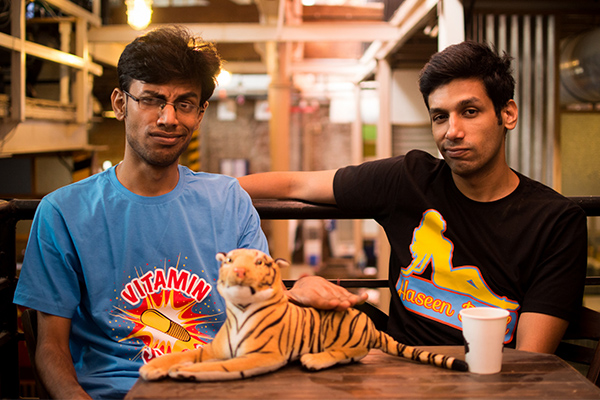 Biswa Kalyan Rath and Kanan Gill, of Pretentious Movie Reviews