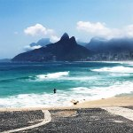 Rio's famous beaches stretch along the Atlantic coastline, Brazil, Rio de Janeiro