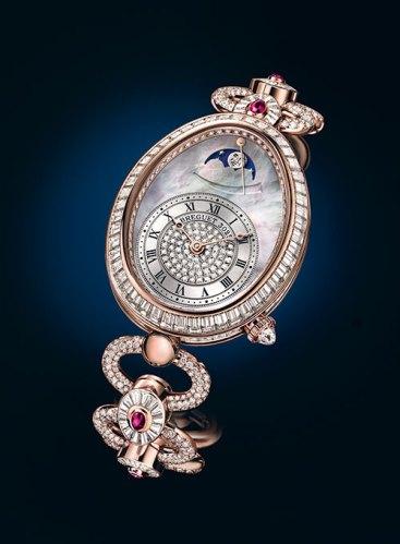Reine de Naples Haute Joaillerie 8909 watch in pink gold