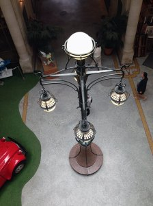 The lamp at Belgium Comic Strip Centre