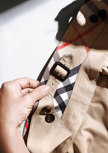 Eighty pieces of fabric and 120 processes go into the making of each trench coat