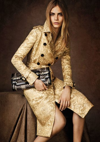 Cara Delevigne for Burberry's Regent Street limited-edition collection