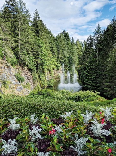 Ross fountain in the Sunken Garden at the Butchart Gardens, Victoria