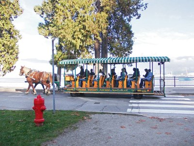 Horse-drawn carriage at Stanley Park, Vancouver