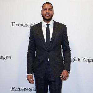 Carmello Anthony at Ermenegildo Zegna