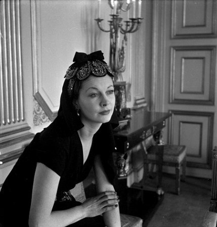 Vivien Leigh at the British Embassy, Paris, 1947