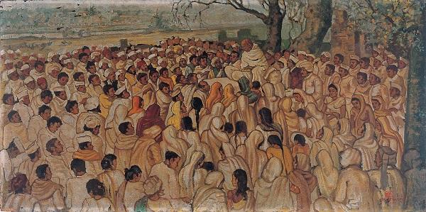 Ramendranath Chakravorty for Gandhi exhibition, Tao Art Gallery
