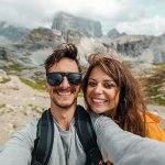 Chanel Cartell and Stevo Dirnberger at the Dolomites, Italy