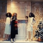 Chanel Window displays in London shop windows festive christmas