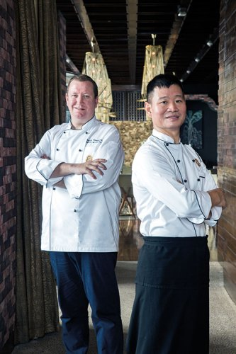 Left to right: Chef Martin Kindleysides, Chef Shi Xilin