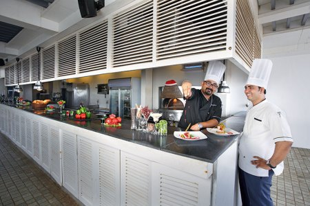 Executive Chef Zorawar Singh Ahluwalia and Chef Sunil Rathod: giving dishes a shot of innovation