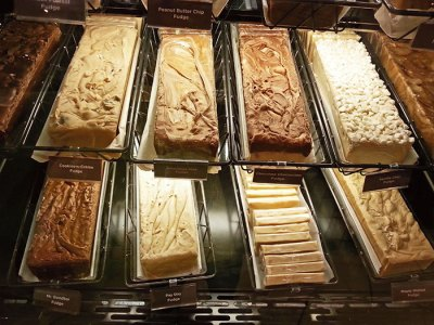 Fudge at the famous Hershey's store