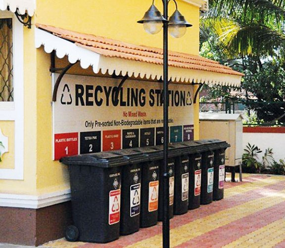 In some societies, they set up recycling stations: providing different dustbins to emphasise the need for segregation.